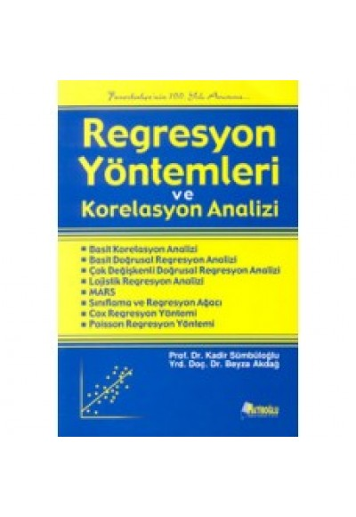 Regresyon Yöntemleri ve Korelasyon Analizi