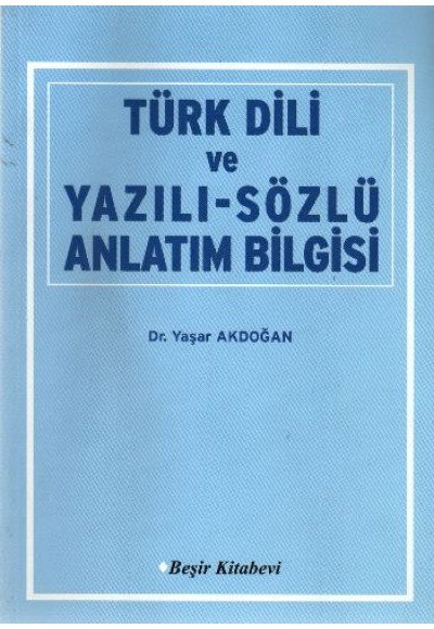 Türk Dili ve Yazılı-Sözlü Anlatım Bilgisi