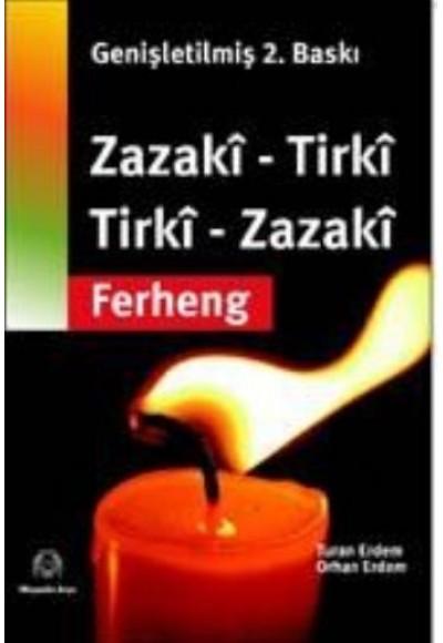 Zazaca Türkçe Türkçe Zazaca Sözlük