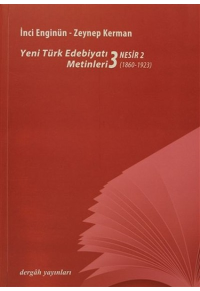 Yeni Türk Edebiyatı Metinleri 3 Nesir 2