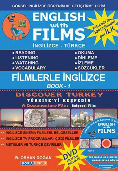 English with Films Book 1 (DVD'li)