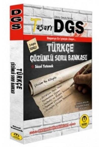 Tasarı 2020 DGS Türkçe Çözümlü Soru Bankası